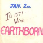 A poster for Earthborn New Year 1977