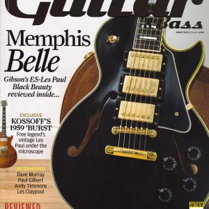 Cover to Guitar & Bass Magazine August 2015