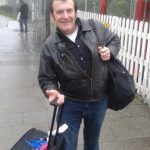 Graham Fenton at Redruth Station – Rock 'n' Roll legend leaves Cornwall