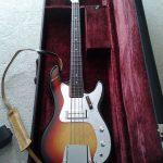 Ayar Bass Guitar in its case.