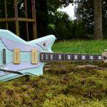An electric guitar made by Plantegenet Guitars