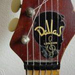 Dallas branded Fenton Weill Dualtone Headstock