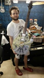 Doron Markowitz with his Millenium Falcon guitar.