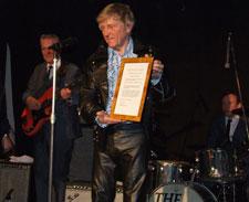 John Leyton with his Anniversary award