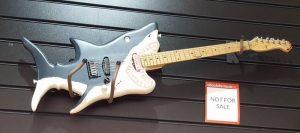The Shark Guitar - a custom electric guitar in the shape of a shark