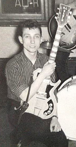 Alan Klein with the early Burns guitar