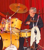 Raye Du Val playing the drums